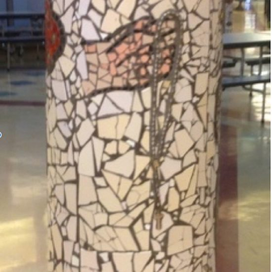 Artist: Theodora Harasymiu / Mosaics – 8 columns ( value: approx. $12,000)