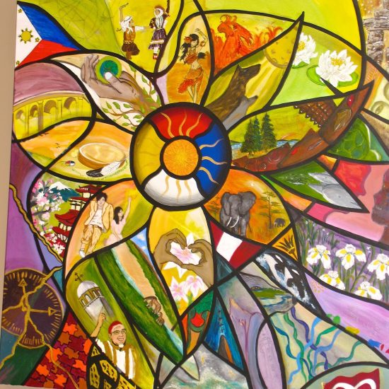 Artist: (First Nations)/Oil on Canvas