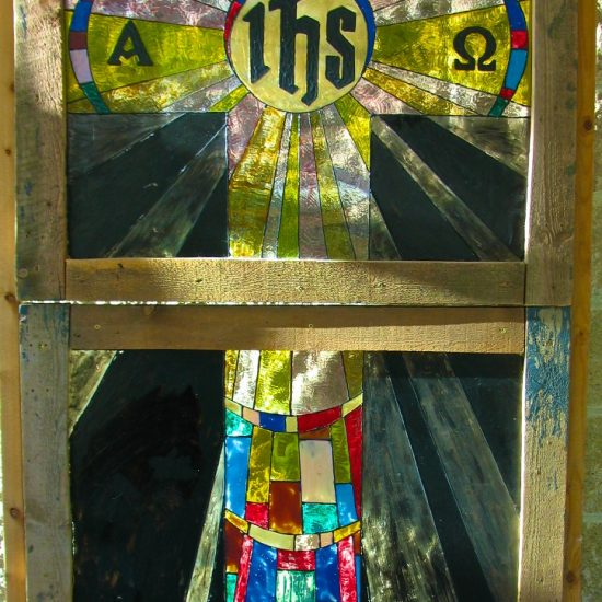 Artists: Students/Stained Glass in Reclaimed Wood