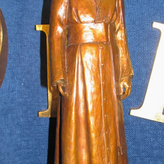 "Artist: Danek Mozdzenski/ ""Frere Antoine "" Bronze maquette of life size statue"