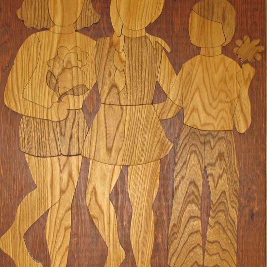 Artist: Robina Zyp/ Mural & 4 Woodcut Panels