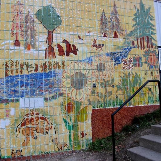 Artists: Elementary Students/ Outdoor Murals/Unknown medium