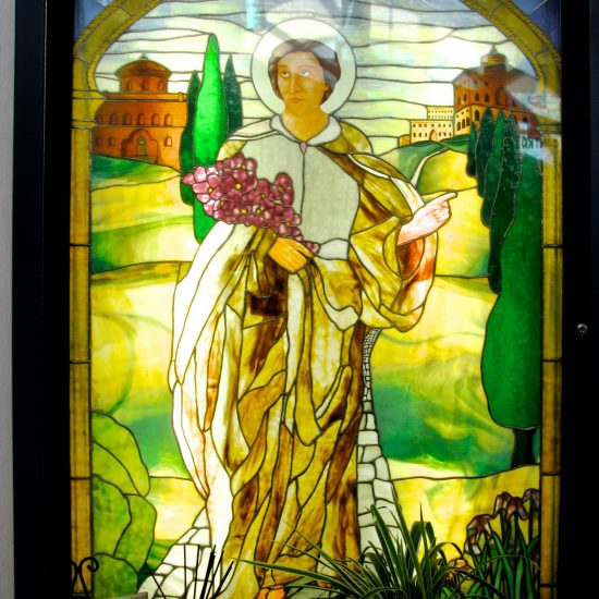 Artist: Nielsen/St. Teresa Stained Glass Panel  (value unknown)