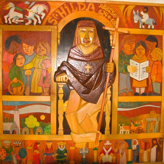 Artist: Al Gerritsen/Mural/Painted Wood Carving & Inlay (value est. $10,000)