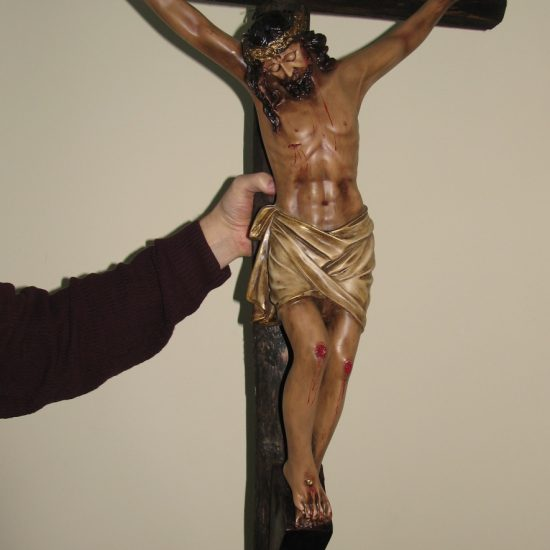 "Artist: Unknown/ ""The Crucified Christ""/Wood carving"