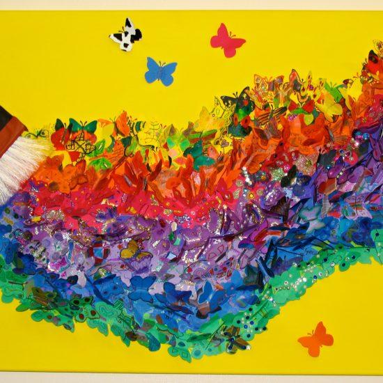 Artist: Christie Edwards/MultiMedia Brush, Paper/Glitter (donation)