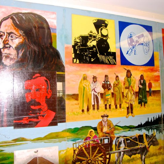 """Artists: Students & Hank Zyp/""""75 Years in Alberta""""/Mural/Acrylics (value unknown)"""
