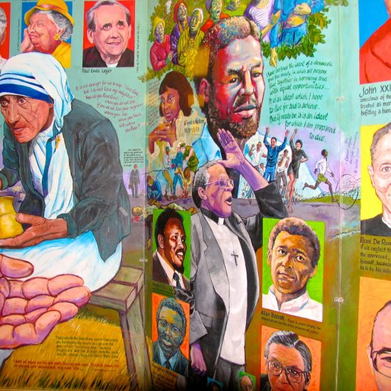 """Artist: Students & Hank Zyp/""""Thy Will Be Done"""" Mural/Acrylics (value unknown)"""
