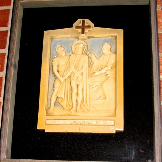 Artist: Unknown/Stations of the Cross/Plaster Relief (donation from St. Charles Parish)