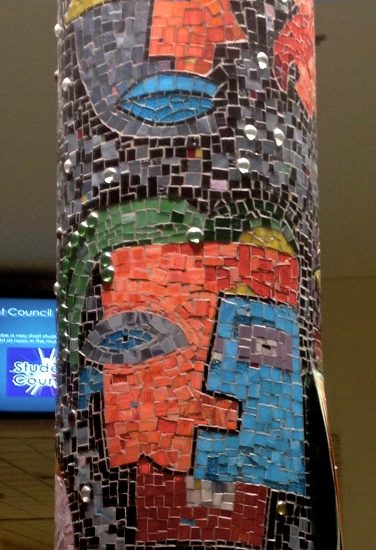Artist: Theo Harasymiw/ Mosaics /3 pillars (approx. value $17,850)