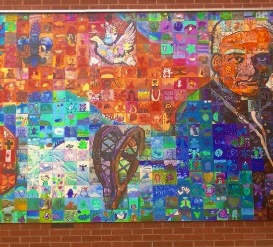 Artists: Mural Mosaics Co.& Grandin Present & Alumni Staff & Students Outdoor Mural/ Painted Ceramic Tile (value $25,000)