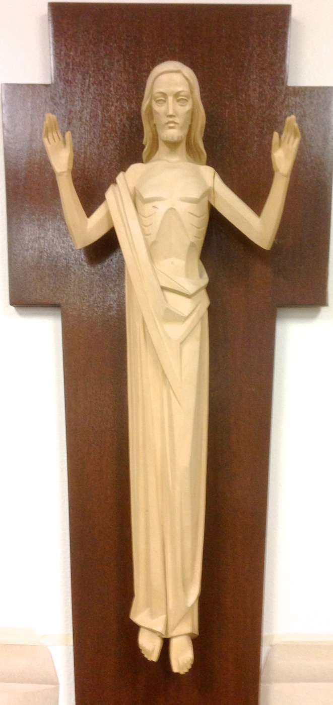 "Artifact: ""The Risen Christ"" Wood Sculpture (value unknown)"