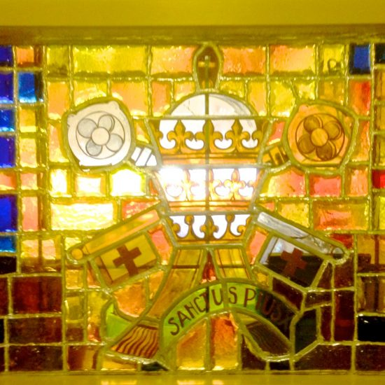Artist: Unknown/2 Stained Glass Origin-France (donation from St. Pius Church)