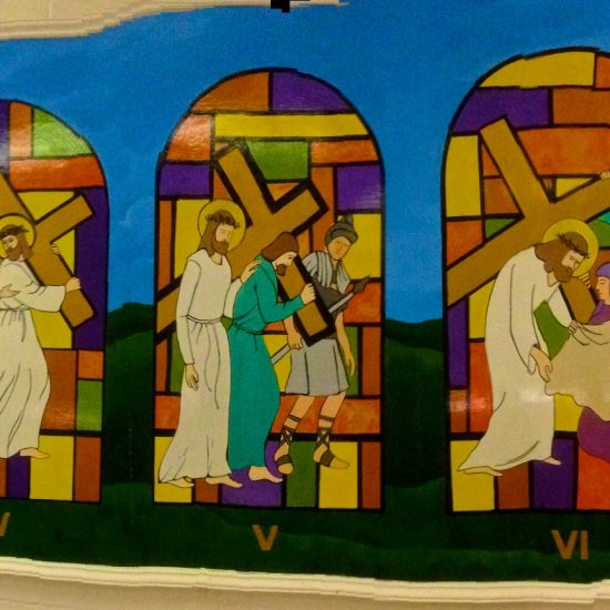 """Stations of the Cross""/Mural/Acrylics"