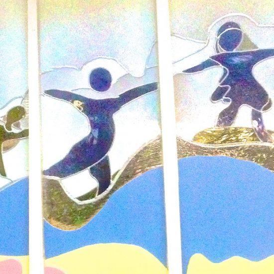 Artist: Brenda Malkinson/Stained Glass Mural (value unknown)
