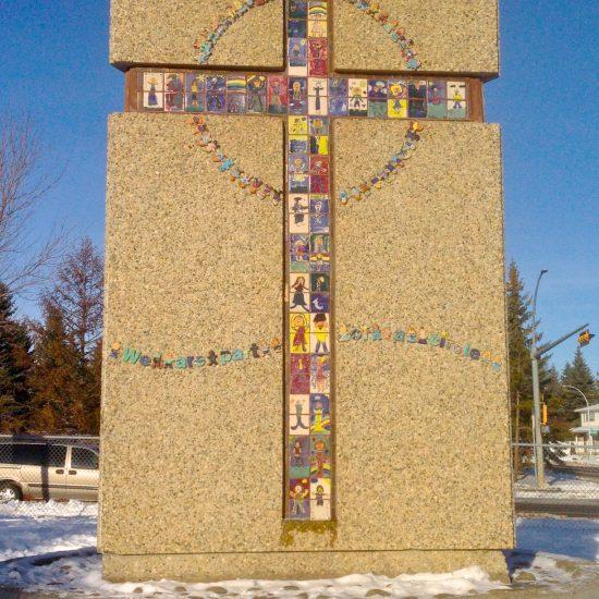 Artists: Debra Bryan & Students – Glass Tiles / Granite Obelisk (value unknown)