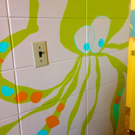 Artist: Heidi Devlin/2 Murals & Bathrooms – * 2 hallways painted over (value $12,000)